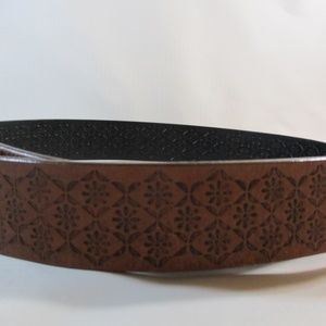 Fossil Accessories - Fossil Brown Leather Flower Print Med.